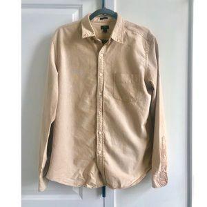 Men's J. Crew Button Up Shirt. Slim. UGC. Cream.
